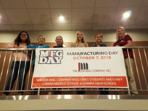 Students with Manufacturing Day sign