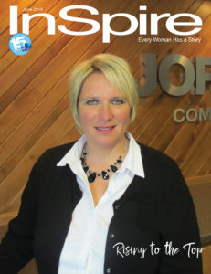 Kelly Sales on the cover of Inspire Magazine